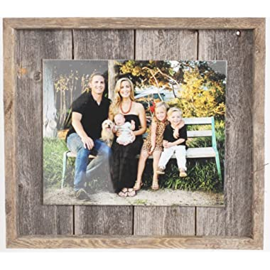 "Rustic Wall Decor Picture Frame, Farmhouse Bardwood, Home Decoration (8"" x 10"")"