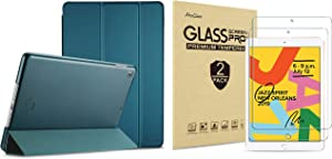 ProCase iPad 10.2 Case 2019 iPad 7th Generation Case (Teal) Bundle with 2 Pack iPad 10.2 7th Gen Tempered Glass Screen Protector