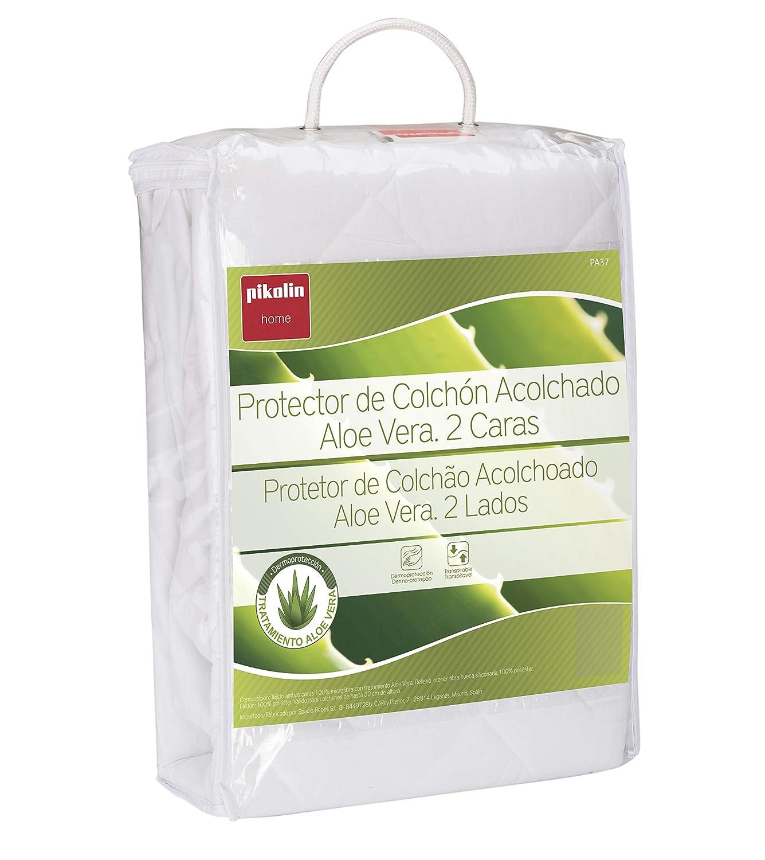Pikolin Home Protector De Colchón Acolchado, Aloe Vera, Transpirable, Blanco, 150 X 190/200 Cm: Amazon.es: Hogar