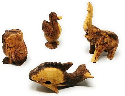 Agas Own - Juego de 4 animales sonoros de madera (búho ...