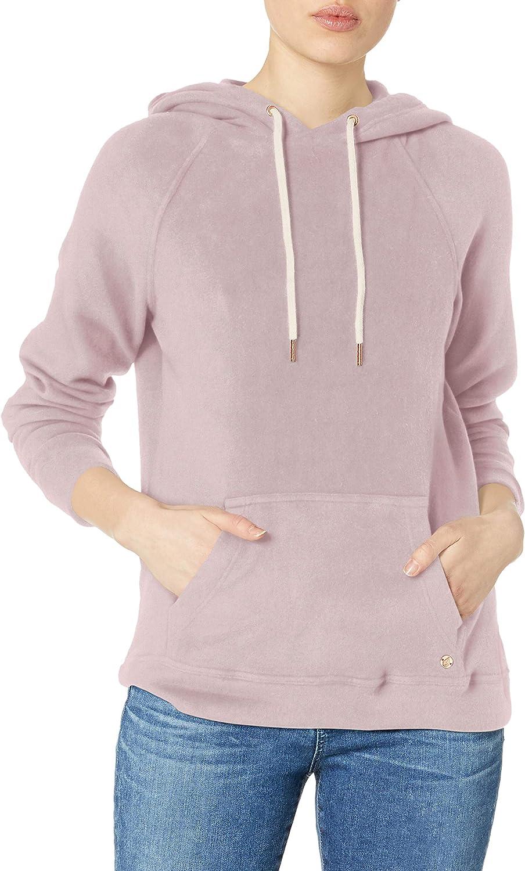 Volcom Women's Junior Lil Pullover Fleece Hoody Sweater, -light purple, Medium