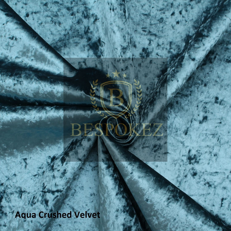 gecrushter Samt Bett – Kaiser Bettgestell, Crushed-Samt, aqua blue ...