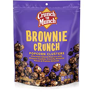 CRUNCH 'N MUNCH Brownie Crunch Flavored Popcorn, 5.5 oz.