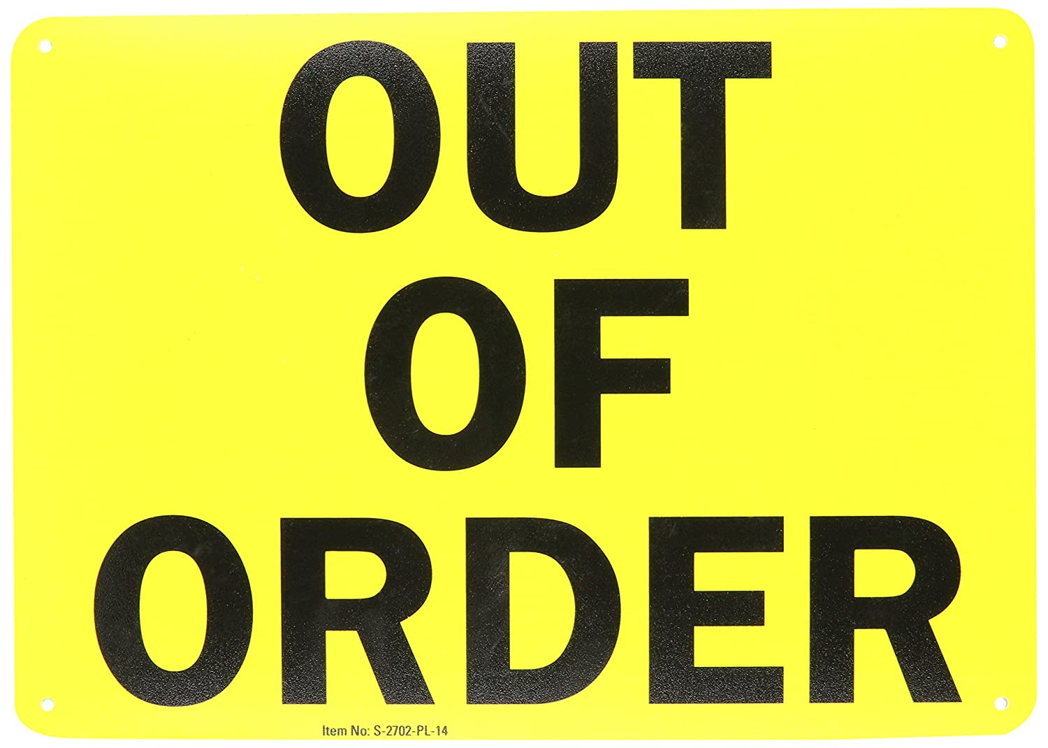 Bathroom out of order sign - Amazon Com Smartsign Magnetic Sign Legend Out Of Order 7 High X 10 Wide Black On Yellow Industrial Scientific