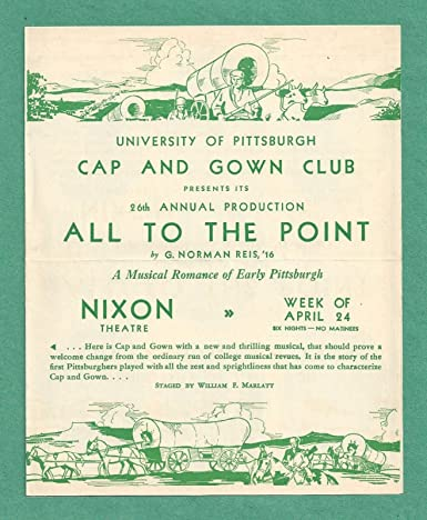 Gene Kelly All To The Point Cap And Gown Club 1933 Pittsburgh