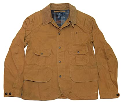 Lauren Canvas Hunting Polo Cargo Ralph Utility Coat Men Jacket Khaki v0wOmNn8