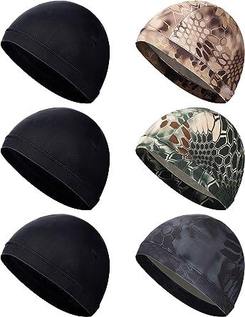 Unisex Helmet Liner Skull Cap Cooling Cycling Cap Helmet Cap Sweat Wicking Cap