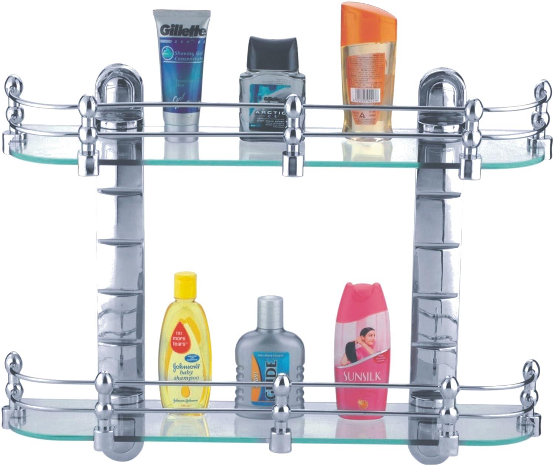 Cipla Plast Bathroom Glass Shelves Set (20u201dx5.5u201d) + Free 14 Pcs  Multipurpose Buffers   BRC 735 A Set: Amazon.in: Home Improvement