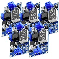 AZDelivery 3 x LM2596S step-down DC-DC buck converter moduł dla 4-40V do 3,3-24V z 3-cyfrowym wyświetlaczem cyfrowym i E…