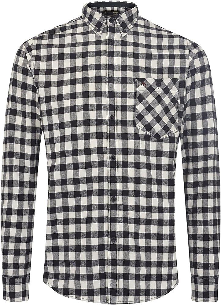 merc Foxhill - Camisa cuadrada (negro/blanco, M): Amazon.es: Ropa y accesorios