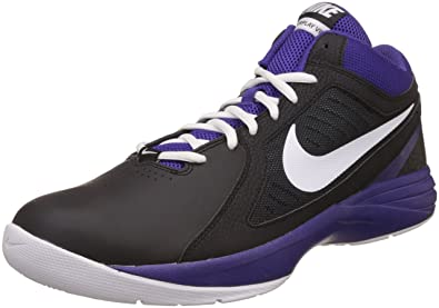 Nike Men's Overplay VIII Black, Purple and White Basketball Shoes - 10.5 UK