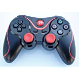 FSC Wireless Remote PS3 Controller Gamepad for use with PlayStation 3 (Black&Red)