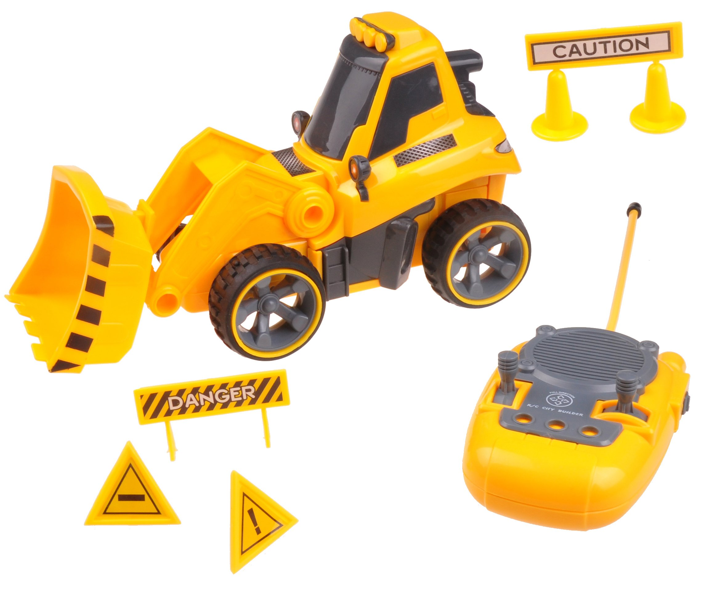 Remote Control Digger Truck Toy For 3,4,5,6 Year Old Boys & Girls TG659 – RC Digger Toy With Full Directional Control and Sounds Effects By ThinkGizmos (Trademark Protected)