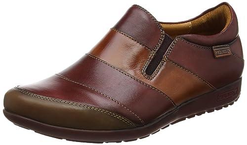 W67-4649_i18, Zapatillas de Estar por Casa para Mujer, Marrón (Cuero Cuero), 38 EU Pikolinos