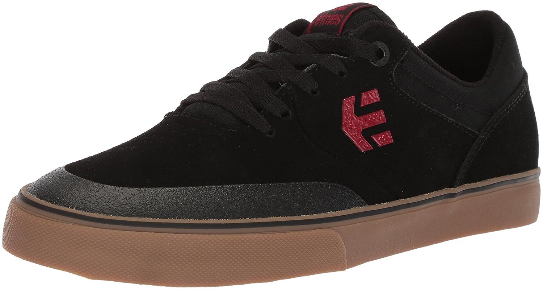 Etnies Marana Vulc Zapatillas De Skate, de Cuero, para Hombre 46 EU|Black (Black/Red/Gum)