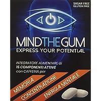 MIND THE GUM - Integratore per Concentrazione, Memoria ed Energia Mentale in Chewing-Gum. L'unico con ben 15 componenti attive. 3 Confezioni da 9 Gomme, gusto Menta.