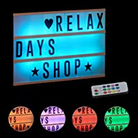 Relaxdays Caja de Luz Led con 85 Letras