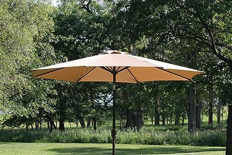 Amazon Com Gothobby 9ft Outdoor Patio Umbrella Aluminum W Tilt