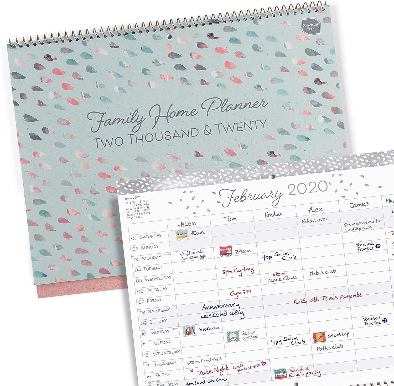 Boxclever Press 'Family Home Planner' calendario 2020. Planificador mensual para una casa o familia ocupada. Calendario 2020 pared comienza desde ahora y se extiende hasta diciembre 2020.