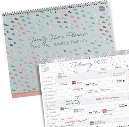 Boxclever Press Family Home Planner calendario 2020 ...
