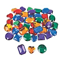 Fun Express Large Adhesive Jewels (50 Pieces) Bulk Craft Supplies
