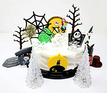 Remarkable Amazon Com Nightmare Before Christmas Themed Birthday Cake Topper Funny Birthday Cards Online Eattedamsfinfo