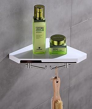 Bellabrunnen Eckregal für Badezimmer Küchen mit 2 Haken Duschregal ...