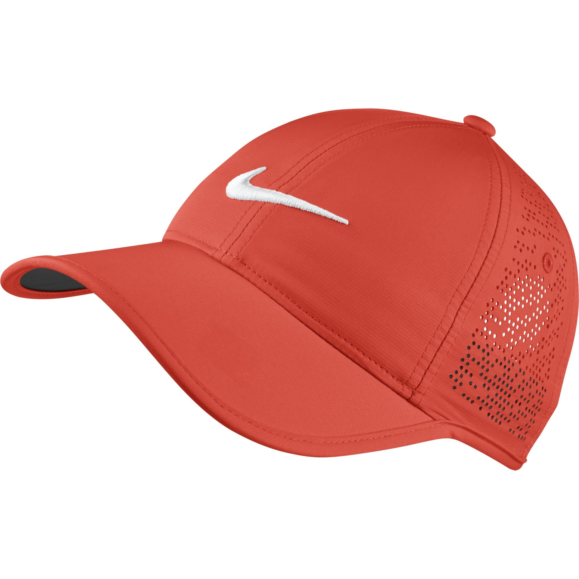 NIKE Women's Perforated Hat, Max Orange/White, One Size by Nike
