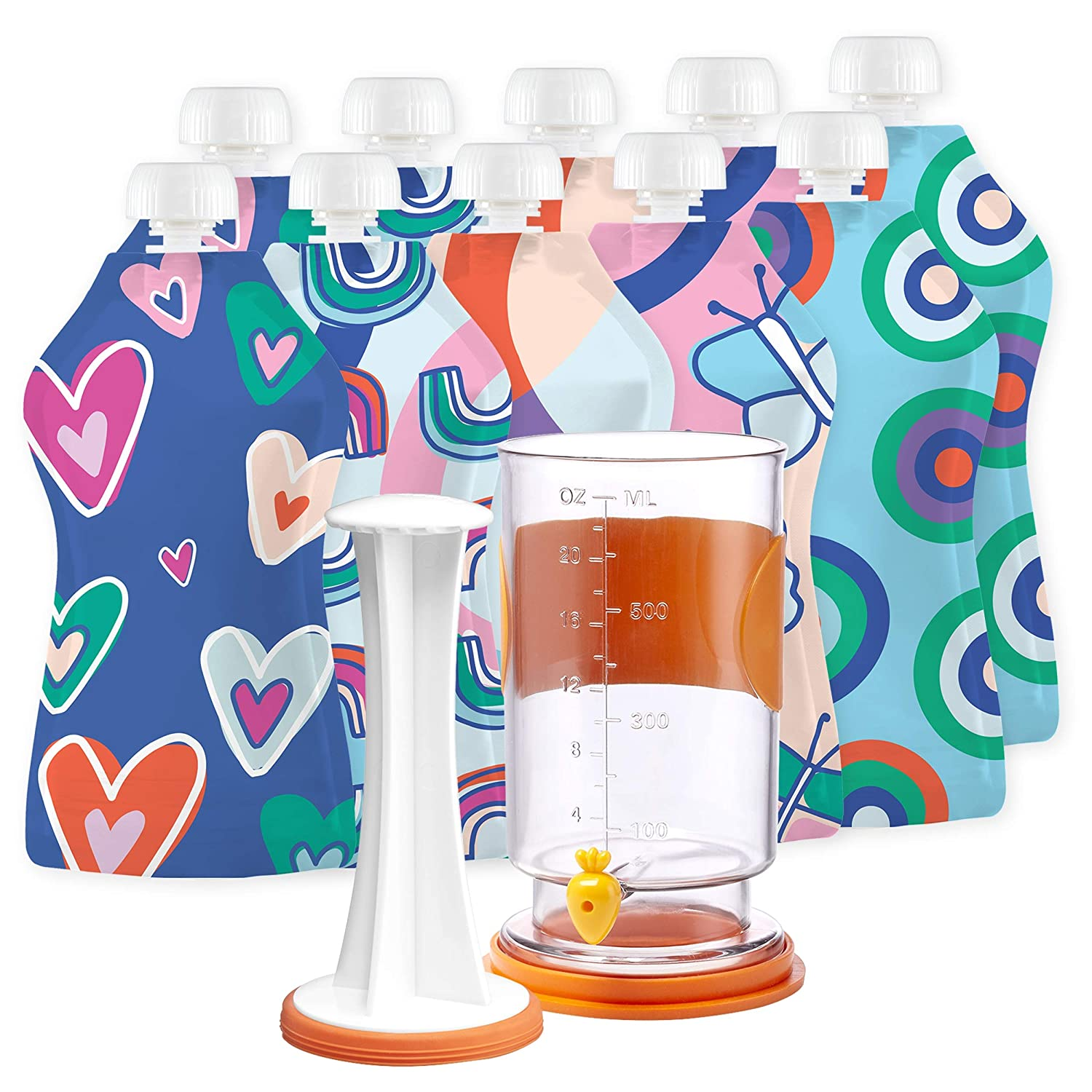 Squooshi Reusable Food Pouch Filling Station Kit V1