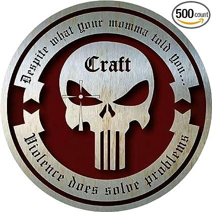 amazon com craft vinyl sticker decal navy seal punisher skull