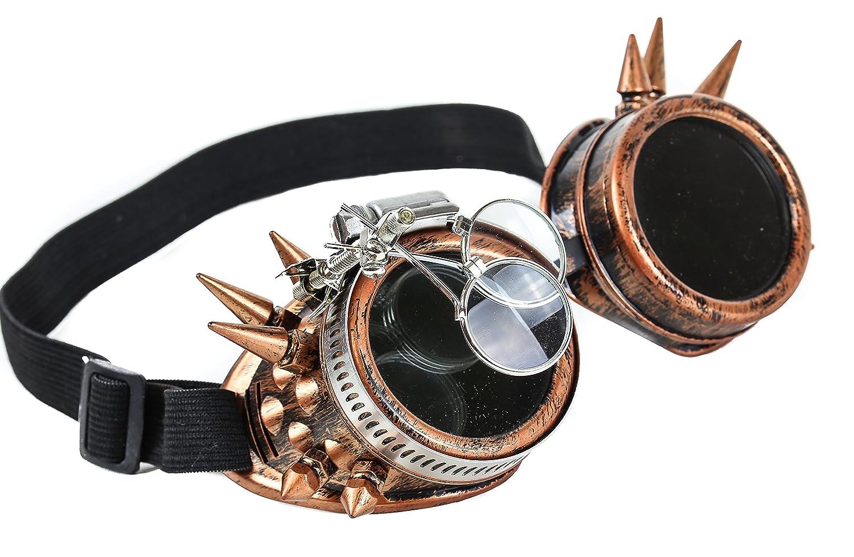 Amazon.com: Steampunk Victorian Spike anteojos 2 x Lente ...