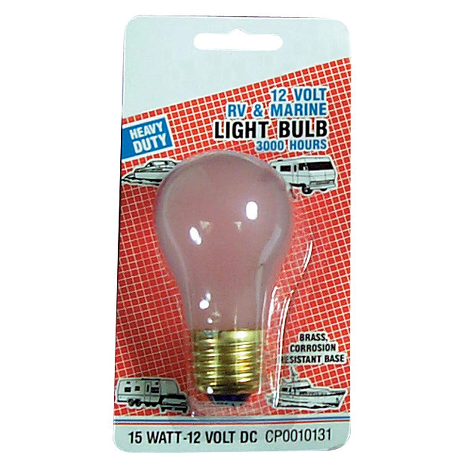 Camco 54890 Replacement A-15 Oven Type Light Bulb