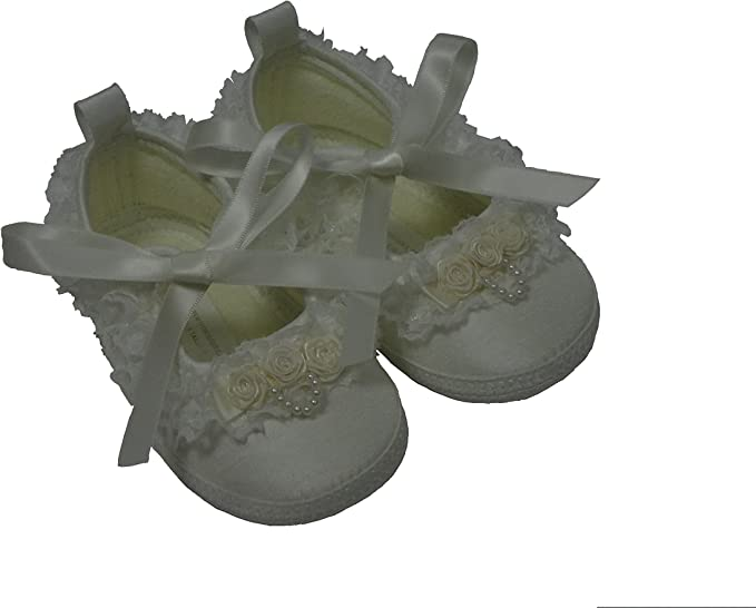 Baby Girls Christening Shoes Size 4