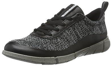 8af3377ee626 ECCO Women s Intrinsic Knit-W Fashion Sneaker Black Concrete 36 EU 5-