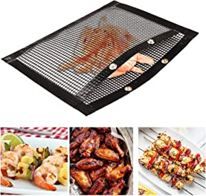 Non Stick Barbecue Mesh Grill Bags for Outdoor Grilling & BBQ | Medium & Large Size, High Temperature Resistant & Reusable Toaster & Oven Pockets | Easy to Clean Cooking & Baking Sheets | Pack of 2 |