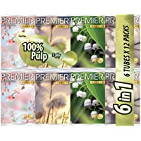 PREMIER Deluxe Pulp 3 Ply Pocket Tissue, 8ct, (Pack of 72)
