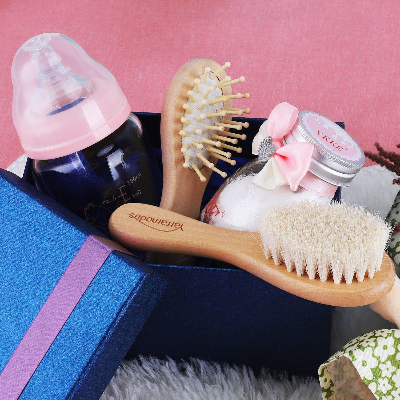 Amazon.com: Juego de cepillo para polvo de pelo de bebé para ...