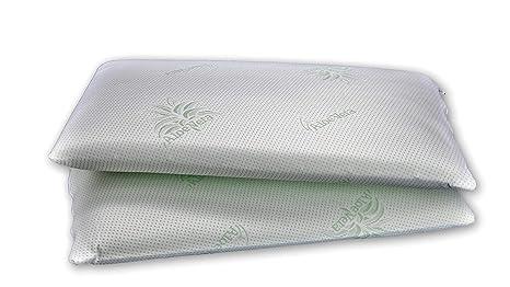 YouHome – 2 almohadas 100% de espuma viscoelástica Soft Medical, ecológica, funda de