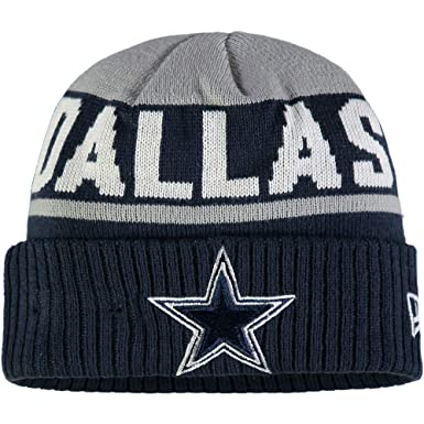 6197026d252 Image Unavailable. Image not available for. Color  New Era Dallas Cowboys  Gray Navy Chilled Sport Knit Cuff Beanie Unisex Hat ...