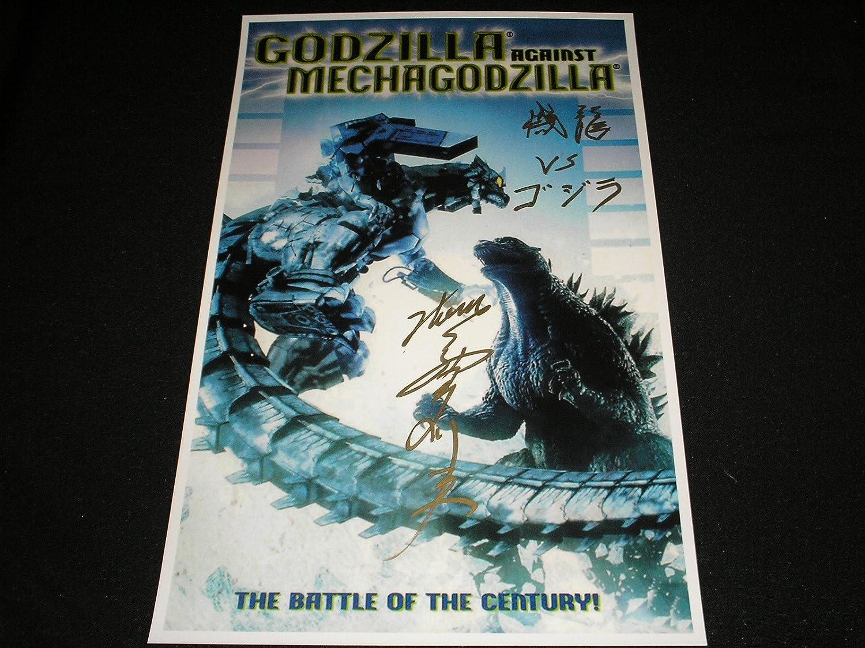 TSUTOMU KITAGAWA Signed GODZILLA vs MECHAGODZILLA 11x17 Poster Suit Actor Autograph A