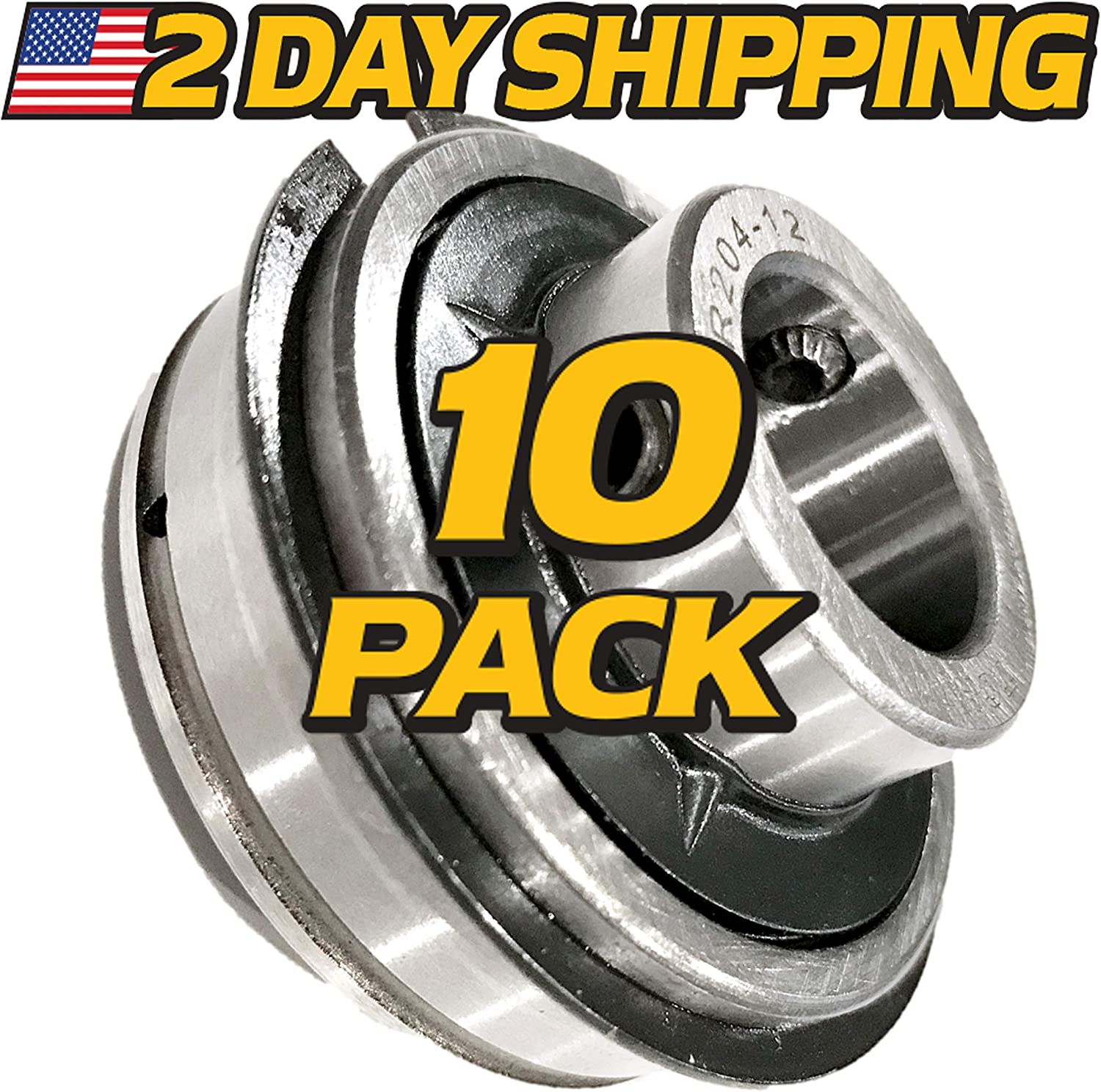 """2 Pieces SER205-14 7//8/"""" ER14 Insert Ball Bearing With Snap Ring NEW"""