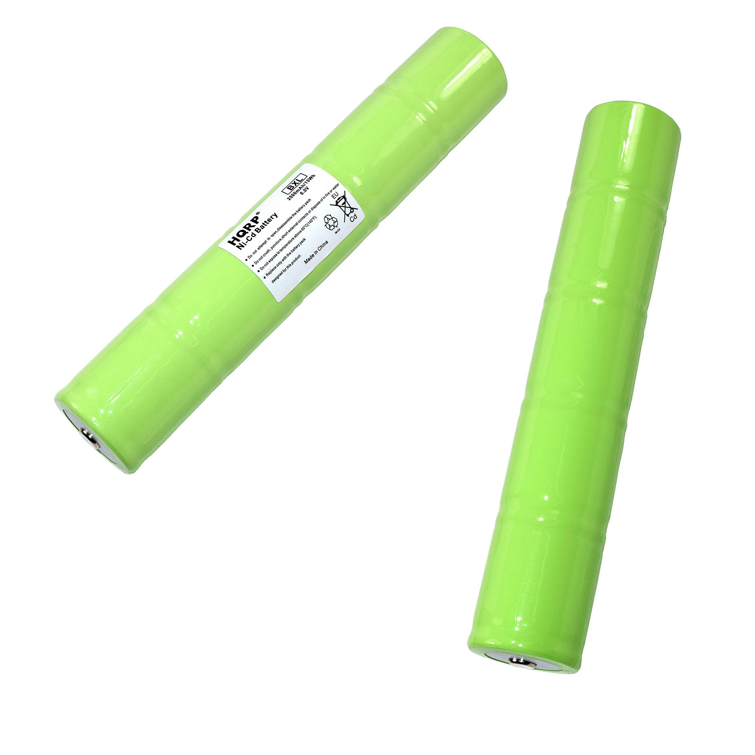 HQRP 2-Pack Battery for Sirchie Bluemaxx BM500LED BM500 BM520 BM525 Rechargeable Forensic Light with LED Bulb ESR4EE3060 6V 2500mAh BMK705 BMK705220 BMK755 BMK755220 Flashlight + HQRP Coaster