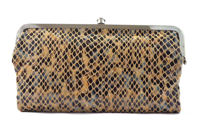 c05dfbb56 Hobo International Genuine Leather Double Frame Clutch Wallet, Diamond  Snake: Amazon.ca: Shoes & Handbags