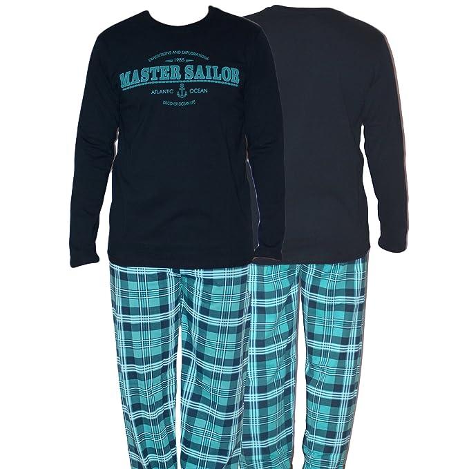 Dazoriginal Conjunto de Pijama Hombre Invierno Algodon Ropa Dormir 2 Piezas 2018: Amazon.es: Ropa y accesorios