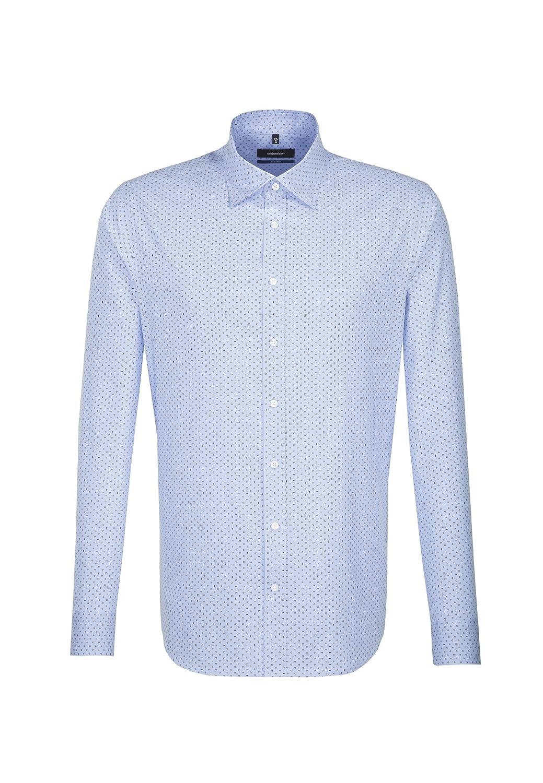 TALLA 46. Seidensticker - Camisa Formal - Liso - con Botones - Manga Larga - para Hombre