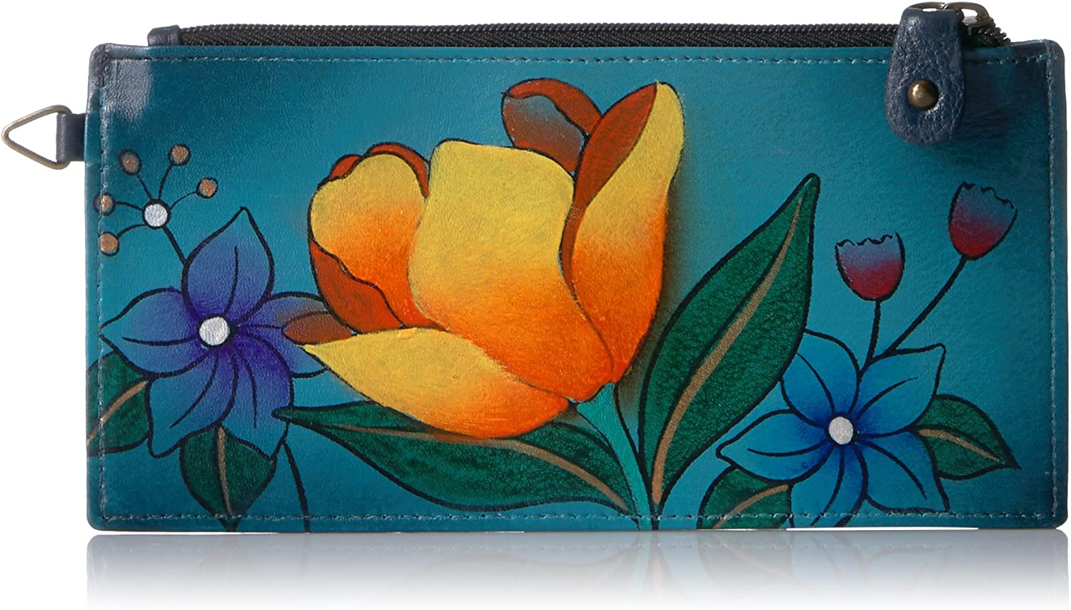 Anna by Anuschka Women's Genuine Leather Organizer Wallet | Five Credit Card Holders