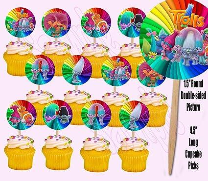 Amazon.com: Trolls Dreamworks Película doble cara Cupcake ...