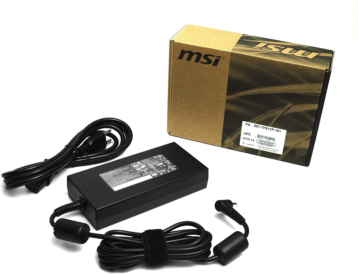 Genuine 230W AC/DC Power Adapter (957-17G11P-101) for MSI GS65/GS75 with RTX2070/RTX2080 Laptops