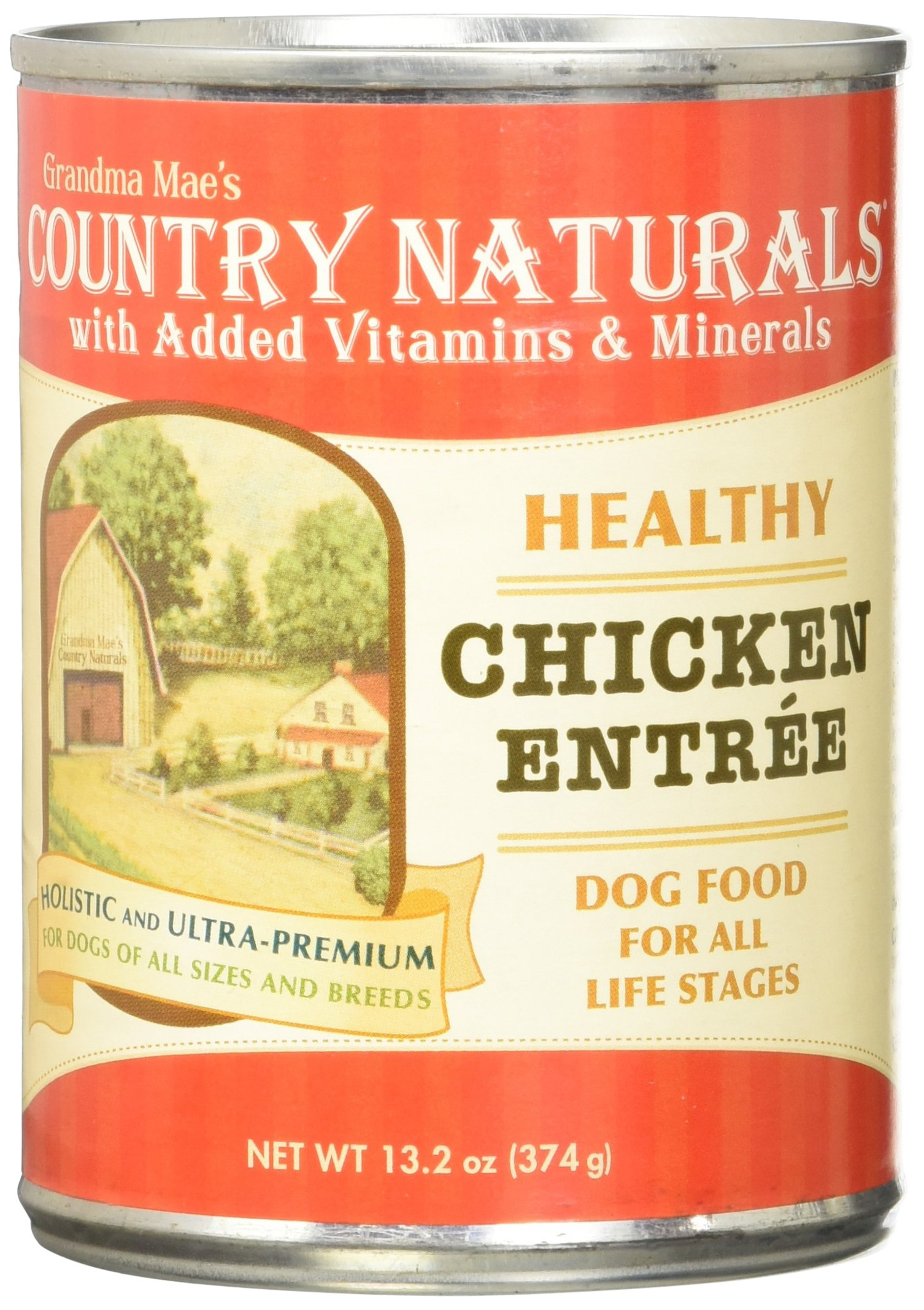 Grandma Mae'S 79700162 13.2 Oz Healthy Entrees For Dogs Chicken Entree (12 Pack), One Size by Grandma Mae's