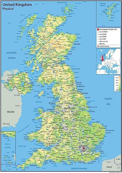 Cartina Politica Della Gran Bretagna Da Stampare.Pollice Realizzabile Preconcetto Uk Cartina Geografica Amazon Agingtheafricanlion Org